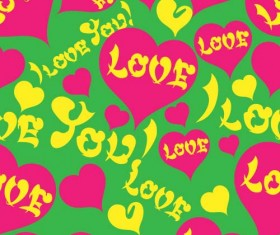 Love seamless pattern vector material 09