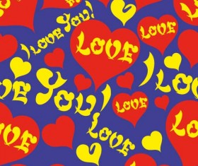 Love seamless pattern vector material 10