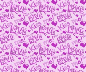 Love seamless pattern vector material 11