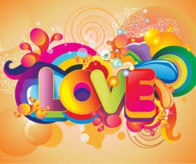 Love with fashion background vector