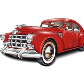 Luxury retro car vector illustration 01