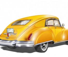 Luxury retro car vector illustration 02