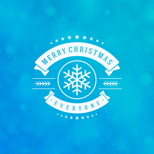 Merry christmas lable with halation background vector