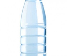 Mineral water with plastic bottle vector 01