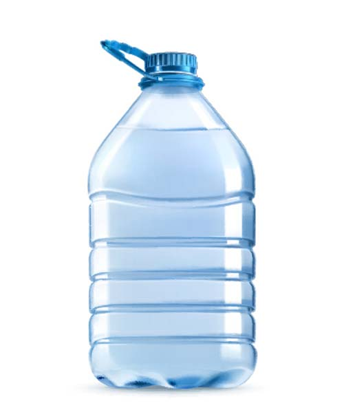 Mineral water with plastic bottle vector 02