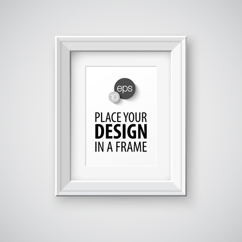 modern photo frame creative vectors material 10 - Modern Picture Frame