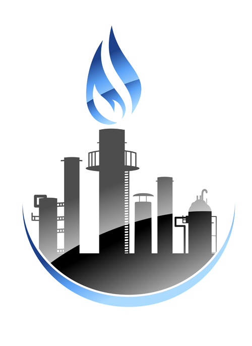 oil refinery industry logo vector 04 vector logo free