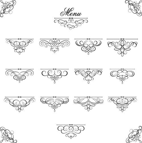 Ornaments calligraphy vintage vectors free download