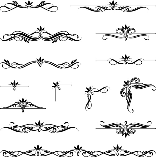 Ornaments calligraphy vintage vectors vector ornament