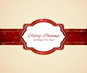 Ornate christmas card with beige background vector