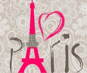 Paris design elements vectors set 01