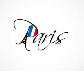 Paris design elements vectors set 03