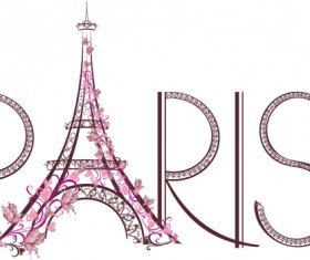 Paris design elements vectors set 04