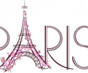 Paris design elements vectors set 04
