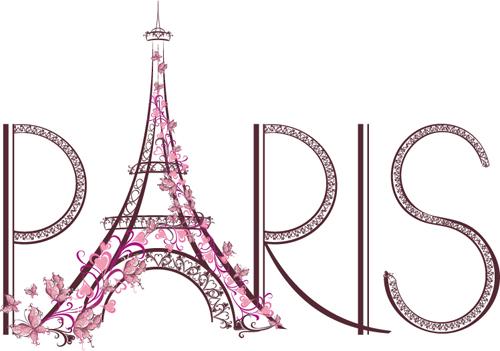 Paris Design Elements Vectors Set 04 Free Download
