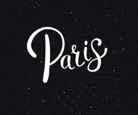 Paris design elements vectors set 05