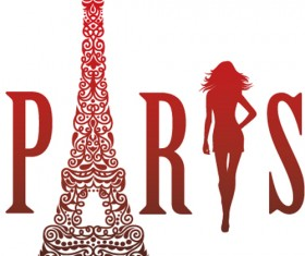 Paris design elements vectors set 07