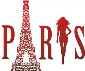 Paris design elements vectors set 07
