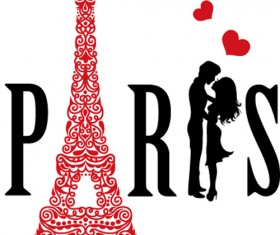 Paris design elements vectors set 08