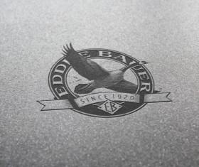 Psd vintage logos creative design