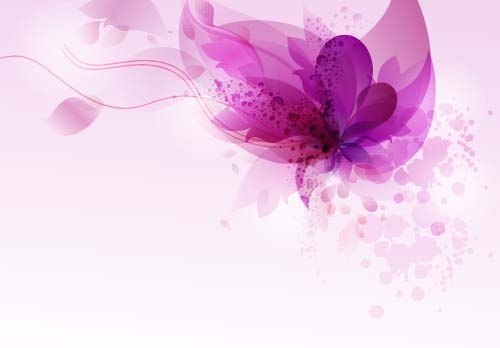 purple floral dream background vector 01 vector