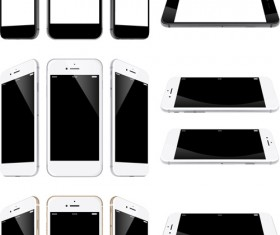 Realistic phone template vector 01