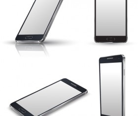 Realistic phone template vector 02