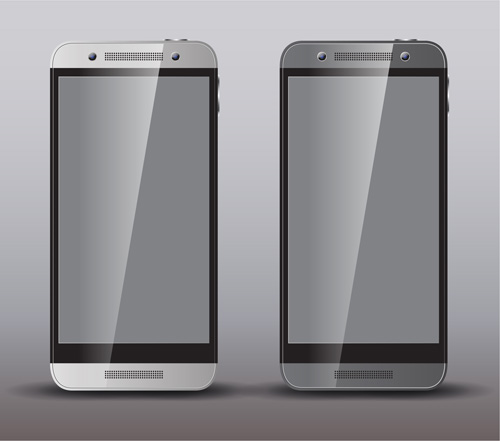 Realistic phone template vector 03