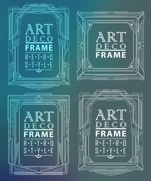 Retro Styles Art Deco Frames Vector Material 06 Free Download