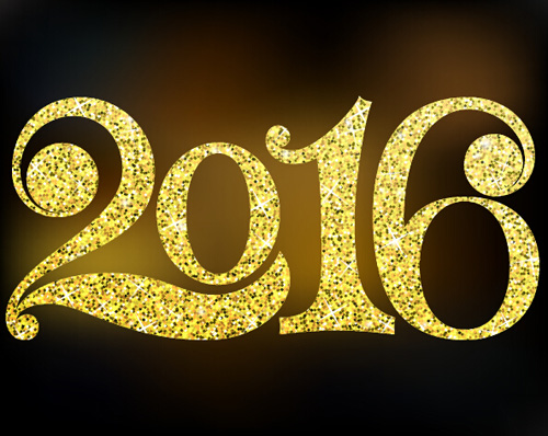 Shiny 2016 new year text design vector vector festival for New window design 2016