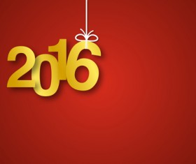 Simple 2016 new year inscription design vector 04