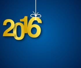 Simple 2016 new year inscription design vector 05