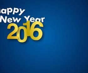 Simple 2016 new year inscription design vector 06