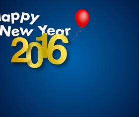 Simple 2016 new year inscription design vector 07