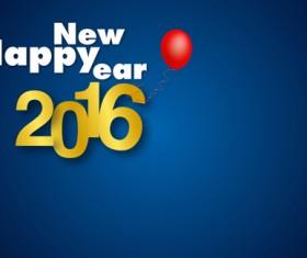 Simple 2016 new year inscription design vector 08