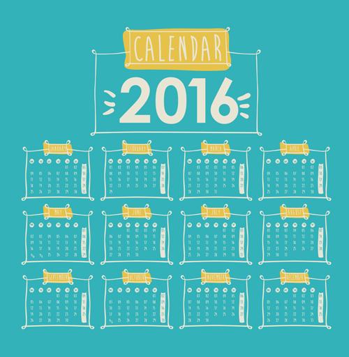 Calendar Design Vector Free Download : Simple wall calendar design vectors set free download