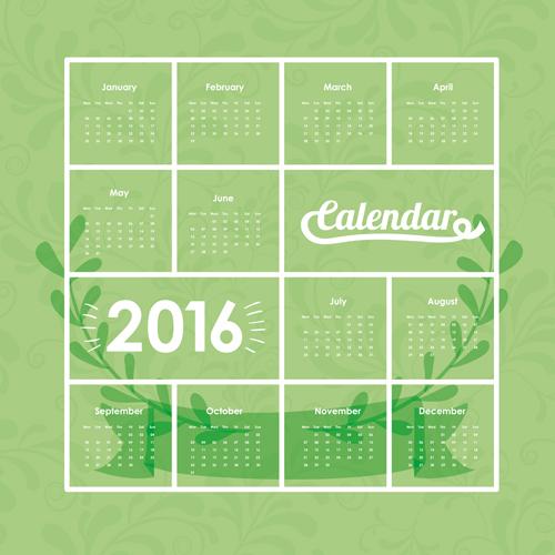 Calendar Design Vector Free Download : Simple wall calendar design vectors set vector