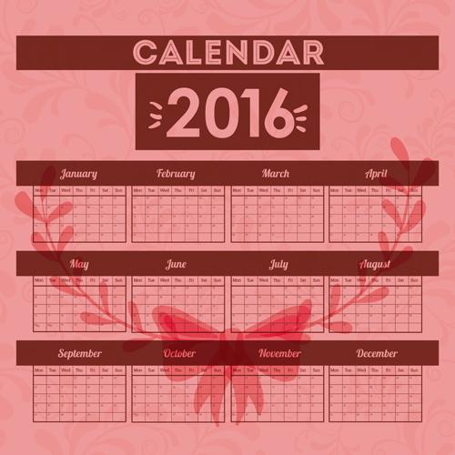 Minimalistic Calendar Design : Simple wall calendar design vectors set vector