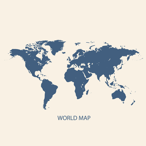 Simple world map vectors graphcs 01 Vector Maps free download