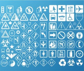 Social Warning signs vector material set