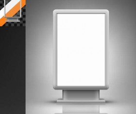 Trade exhibition and promotion stand template vector 06
