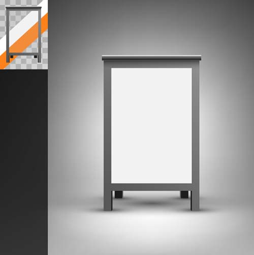 Exhibition Stand Vector Free Download : Trade exhibition and promotion stand template vector