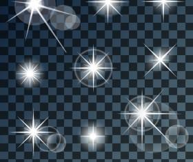 Transparent light effects vector illustration 01