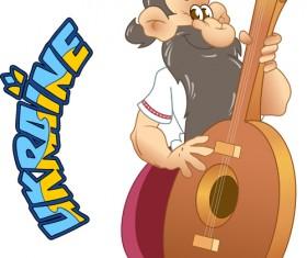 Ukraine cartoon characters vector set 02