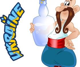 Ukraine cartoon characters vector set 03