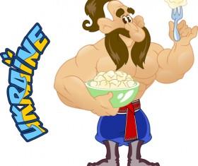 Ukraine cartoon characters vector set 04