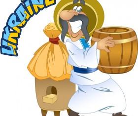 Ukraine cartoon characters vector set 05