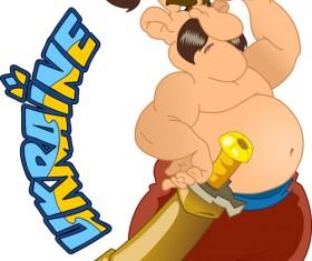 Ukraine cartoon characters vector set 06