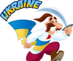 Ukraine cartoon characters vector set 07