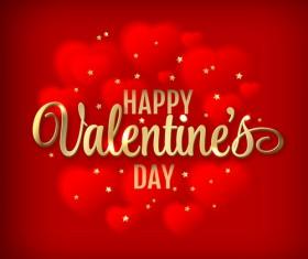 Valentine red background art vector 01